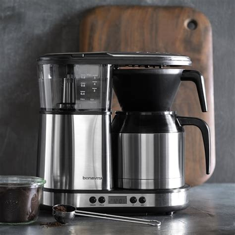 Coffee Maker Stainless 0027200006 bonavita 8 cup digital brewer with stainless steel carafe williams sonoma