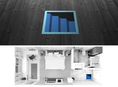 8 Bit Secret Passage Floor Decal   The Green Head