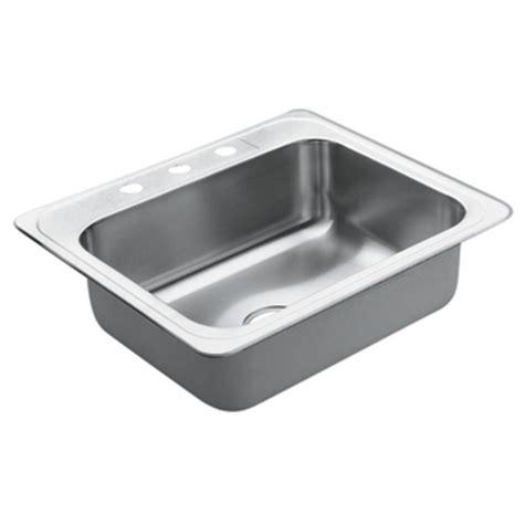 drop in kitchen sinks stainless steel moen 22831 excalibur stainless steel 22 single bowl