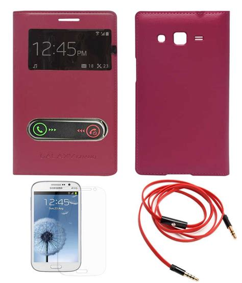 Earphone Samsung Grand Duos tbz leather flip cover s view fusion for samsung galaxy grand duos i9082 with screen