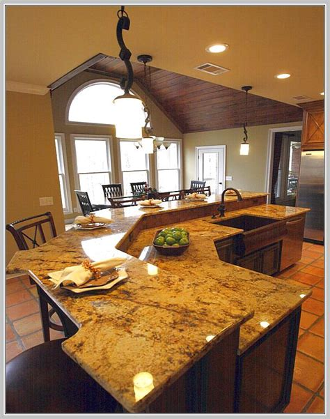 granite top kitchen island with seating