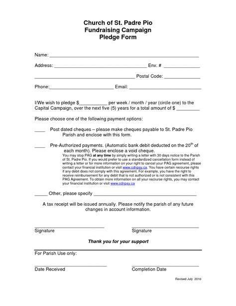 Sle Pledge Cards For Fundraising Template by Pledge Letter Template 28 Images Sending Pledge