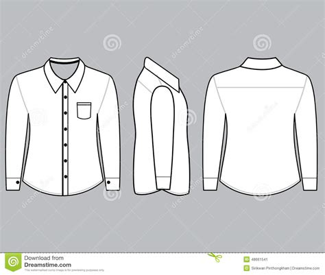 Shirt Sleeve Template Stock Vector All Six Views Men S White Long Sleeve T Shirt Design Sleeve Shirt Design Template