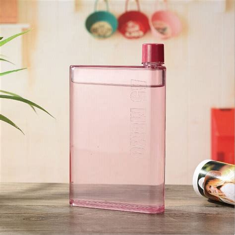Flat Bottle Memo Bottle A5 Botol Gepeng Botol Air Minum B48 2 59 memobottle a5 letter reusable water bottles 420ml botol minum pink jakartanotebook
