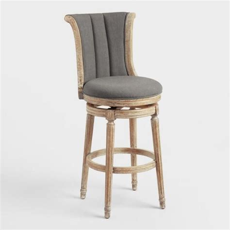 30 Swivel Bar Stools With Back And Arms by Bar Chairs With Arms Charcoal Linen Channel Back Swivel
