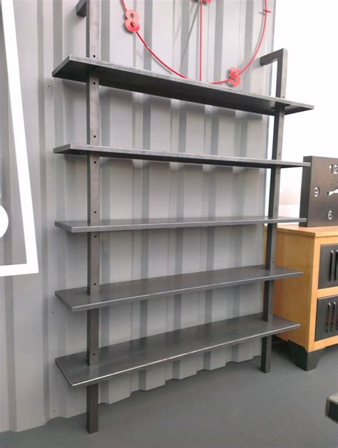 etagere sur mesure 201 tag 232 re biblioth 232 que industrielle en acier sur mesure