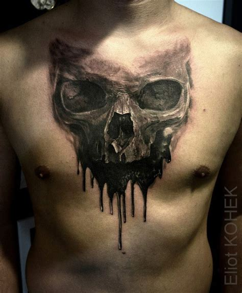 skull tattoo guy 17 best ideas about chest tattoos on ram