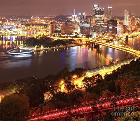 pittsburgh city sky lights photograph by adam jewell