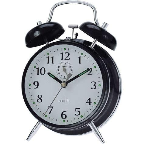 saxon wind up bell alarm clock 16cm