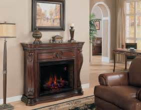 electric fireplace mantel in empire cherry