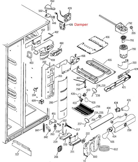 refrigerator parts ge whirlpool refrigerator parts diagram