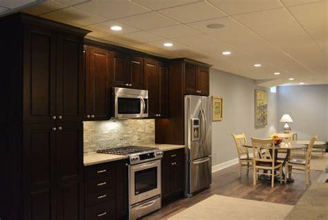 kitchen in the basement basement finishing renovation princeton a e