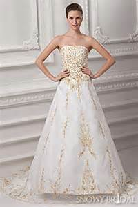 gold wedding dresses and ivory gold wedding dresses