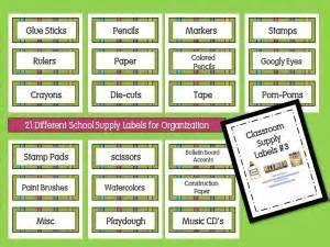 printable art supply labels 19 best images about classroom labels on pinterest