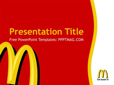 mcdonalds powerpoint template free mcdonald s powerpoint template pptmag