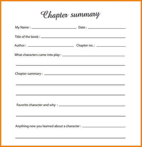 Book Chapter Outline Template by Chapter Summary Worksheet Lesupercoin Printables Worksheets