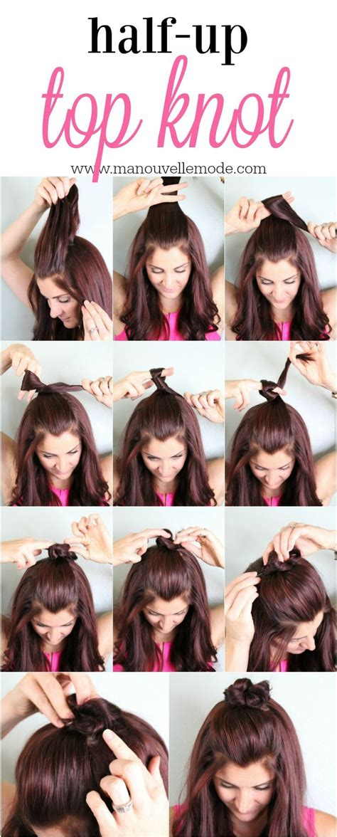 how do you do half up half down hairstyles 17 best ideas about half up bun on pinterest top knot