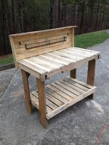 wood pallet potting bench 1000 images about potting bench love on pinterest