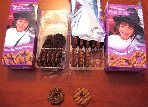 samoas  caramel delites samoa  left caramel delite