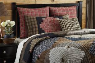 country plaid 3pc full queen quilt set western rustic