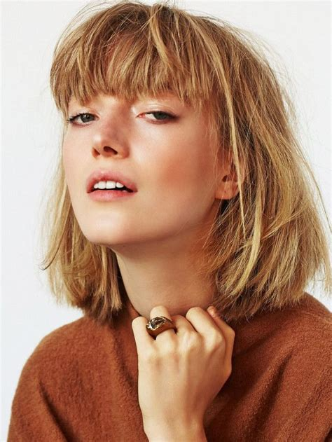 one length thick chunky bob best 25 thick hair bangs ideas on pinterest bangs