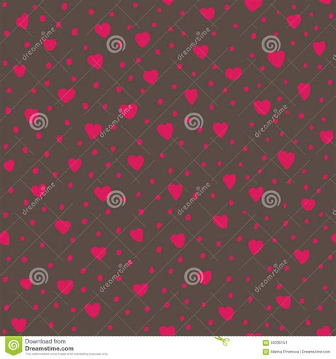 seamless pattern with hearts seamless pattern with hearts vector illustration stock
