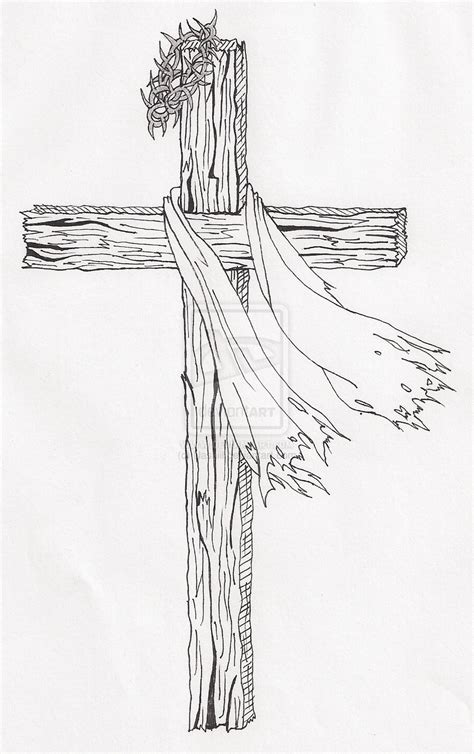 rugged cross tattoos wooden cross drawing search