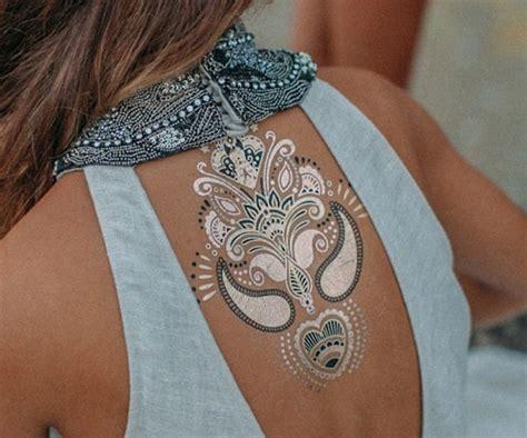 silver ink tattoo gili trawangan metallic ink tattoos tattoo collections
