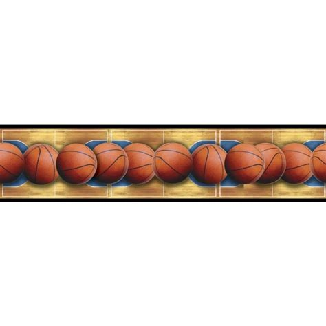 Beach Wall Murals basketballs across the basketball court peel amp stick