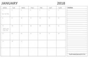 Calendar 2018 January And February January 2018 Calendar Templates