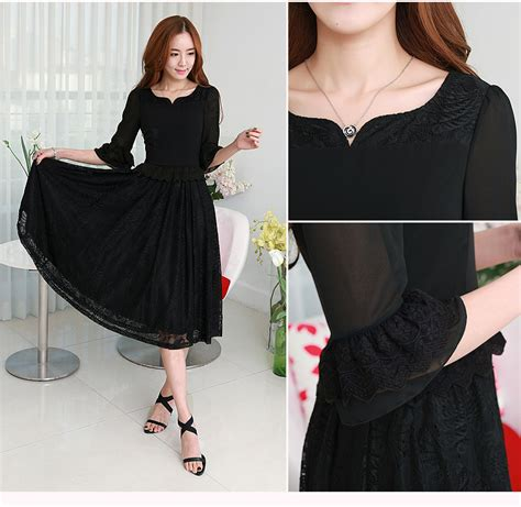 Dress Cntik dress korea baju korea asli baju korea big size baju
