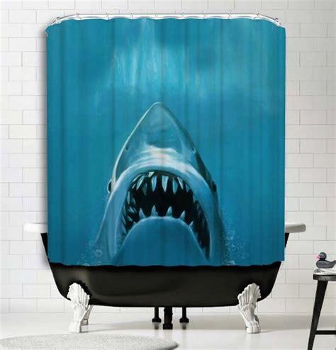 jaws shower curtain jaws shark shower curtain standardized bath tubs prevent