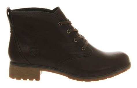 timberland ek putnam lace ankle boot in brown lyst
