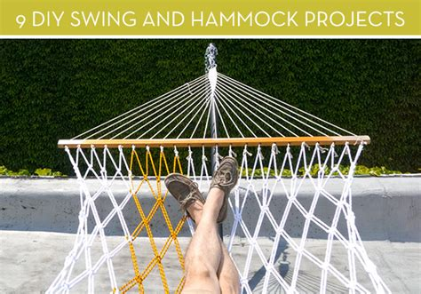 diy hammock swing 9 diy outdoor swing and hammock projects 187 curbly diy