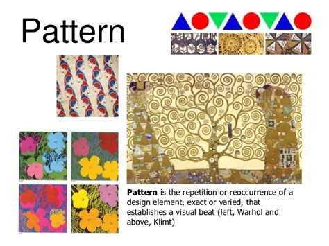 pattern definition principles of art art elements and principles