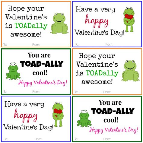 printable valentines day cards free frog cards diy printable cards
