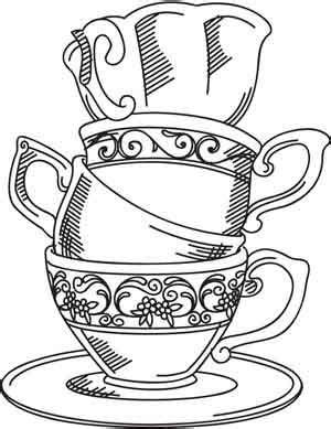 teacup rubber st tea cup drawing www pixshark images