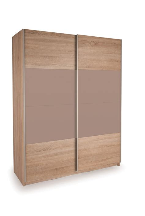 Sliding Door Oak Wardrobe by Dallas Oak Sliding Door Wardrobe Oak High Gloss Mocha
