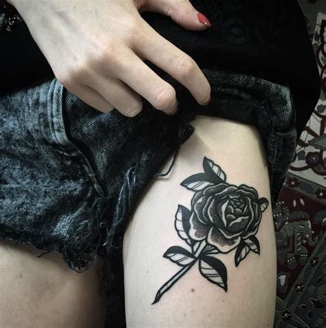 black rose tattoos for girls 80 black tattoos and design with meanings