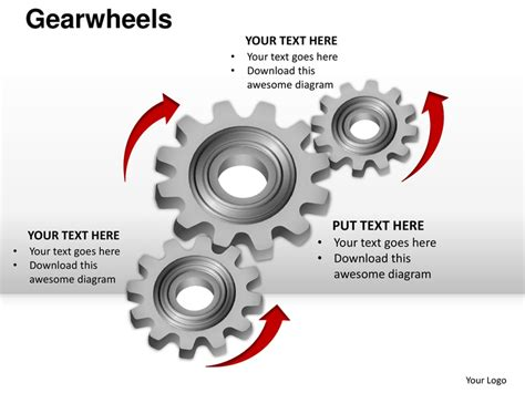 mechanic gears and wheels powerpoint template background gearwheels cogs mechanical powerpoint presentation templates
