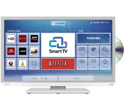 Tv Tabung Toshiba 29 toshiba 32d3454db 32 quot smart hd ready led dvd combi with freeview hd built in wifi in white