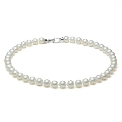 freshwater pearl white necklace gold