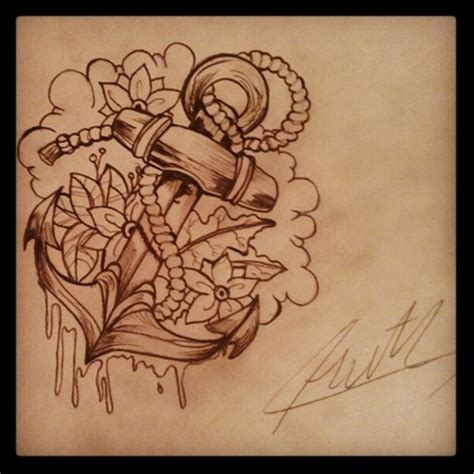 anchor with flowers tattoo amazing flowers and anchor design