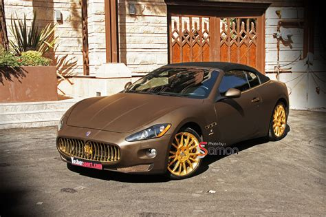 maserati brown photoshoot maserati grancabrio fendi