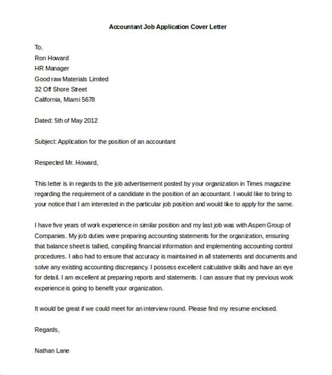 accountant cover letter