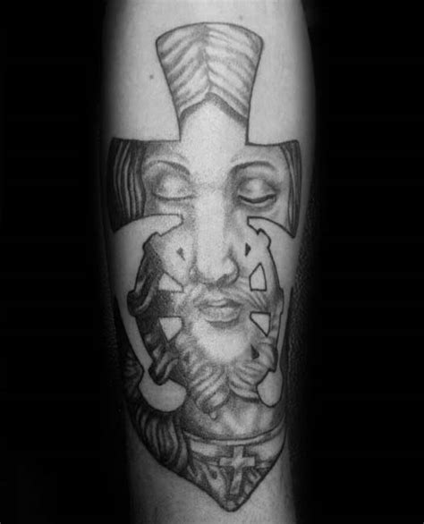 cross tattoo jesus inside 40 anchor cross tattoo designs for men religious ink ideas