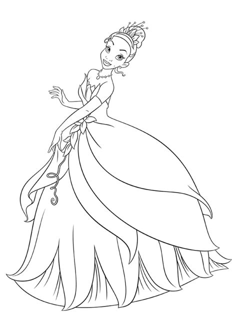 disney princess tiana coloring pages coloring home