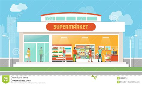 Supermarket Clipart supermarket building clipart black and white clipartsgram