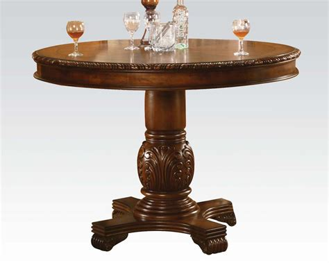 Pedestal Height pedestal counter height table chateau de ville cherry by