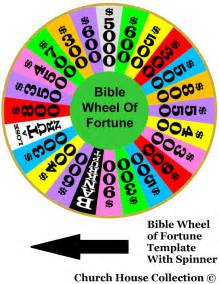 Wheel Of Fortune Template by Church House Collection Bible Wheel Of Fortune